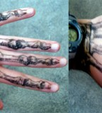 anatomical tattoo skelehand