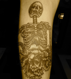anatomical tattoo skeleton