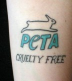 animal rights tattoo peta cruelty free