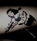 banksy graffiti tattoo mona lisa