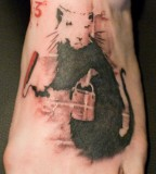 banksy graffiti tattoo painting rat