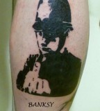 banksy graffiti tattoo rude copper