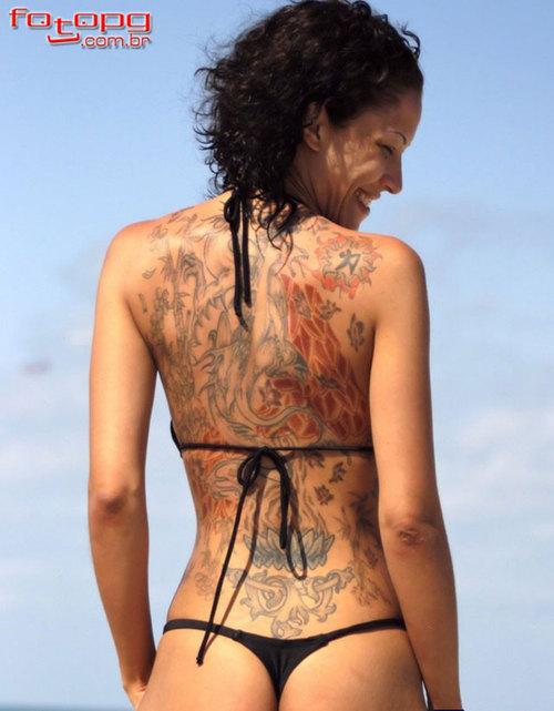 Back Girl BikiniTattoomagz Tattoo Full Beach Black De92YbEHIW