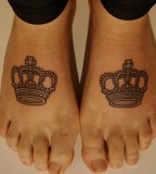crown tattoo on feet