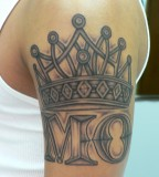 crown tattoo on hand MO
