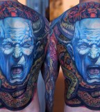 energy tattoo neon full back