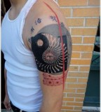 energy tattoo shoulder tattoo yin yang