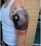 energy tattoo shoulder tattoo yin yang