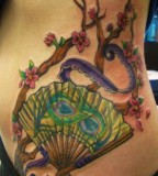 fan tattoo asian
