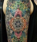 fractal tattoo cosmic sleeve