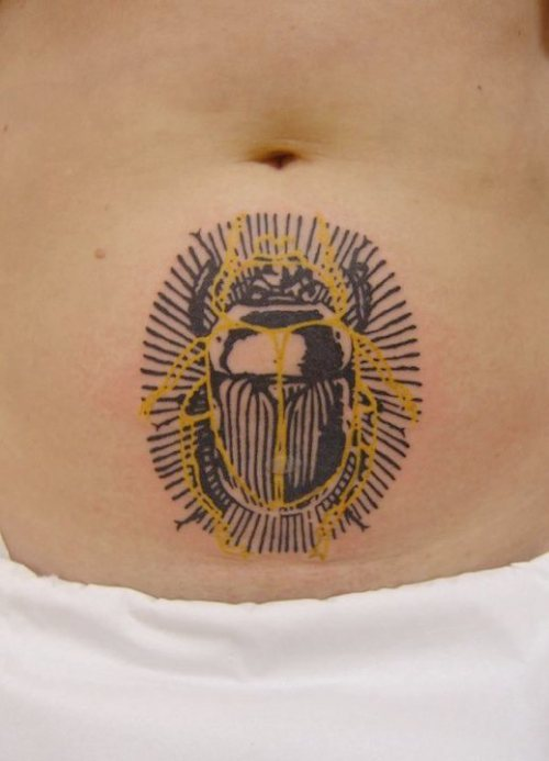 insect-tattoo-scarab-beetle-black-and-yellow