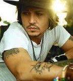johnny depp tattoo johnny with hat