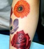 realistic tattoo flowers
