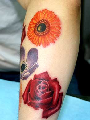 realistic tattoo flowers