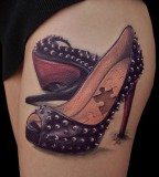realistic tattoo high heels
