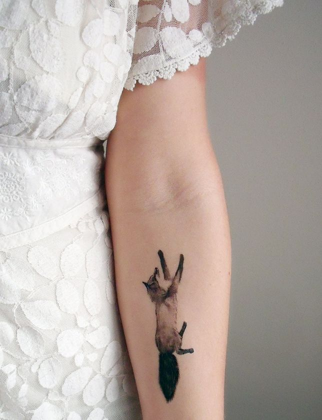 realistic tattoo running fox
