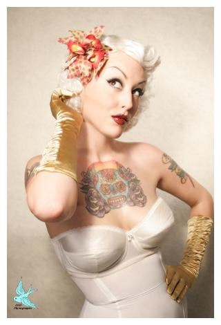 044a9867d1884 rockabilly tattoo girl in white - | TattooMagz › Tattoo Designs ...