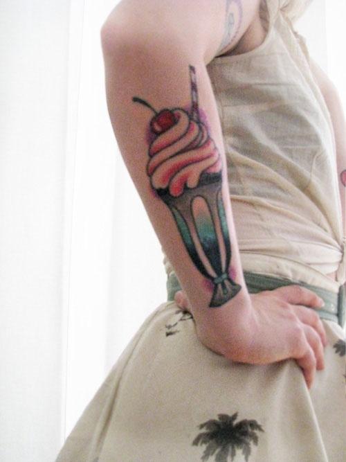 rockabilly tattoo milkshake