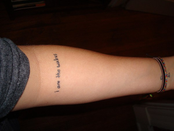 song lyric tattoo i am the walrus