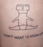 song lyric tattoo i don't want to grow up