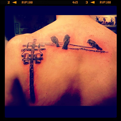 song lyric tattoo three little birds