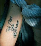 song lyric tattoo we can be heroes