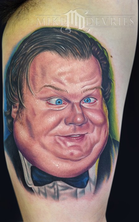 tattoo by Mike DeVries chris farley