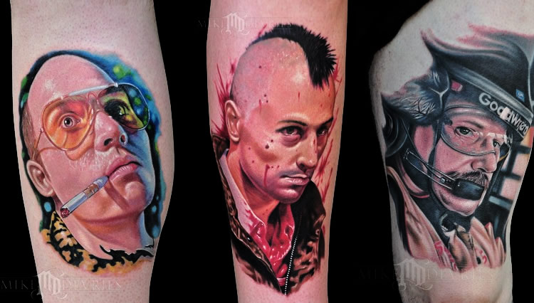 tattoo by Mike DeVries movies characters