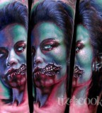 tattoo by Mike DeVries zombie girl