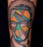 tattoo design for men geometric tattoo man face