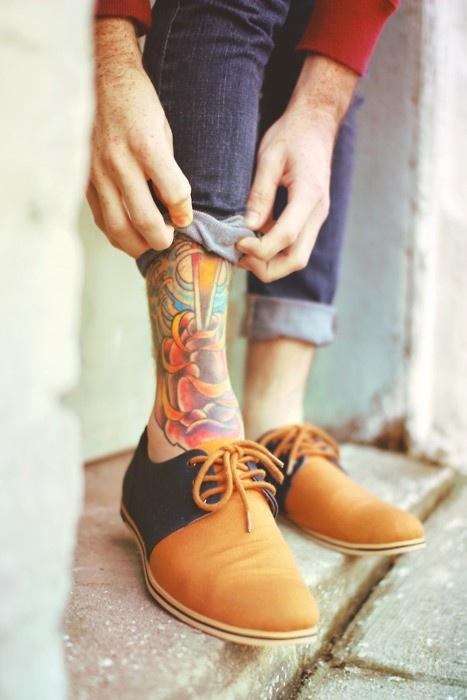tattoo design for men leg tattoo