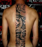 tattoo design for men tribal spine tattoo