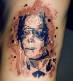 watercolor tattoo design michel jackson