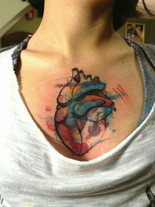 watercolor tattoo design watercolor inspired heart