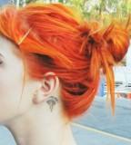 behind ear tattoo warped ginger girl