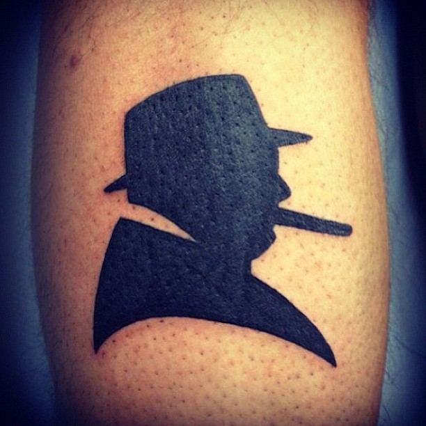 blackwork tattoo notorious BIG
