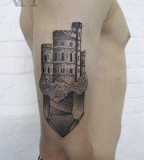 castle tattoo by valentin hirsch