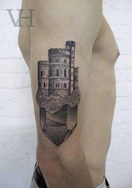castle tattoo by valentin hirsch