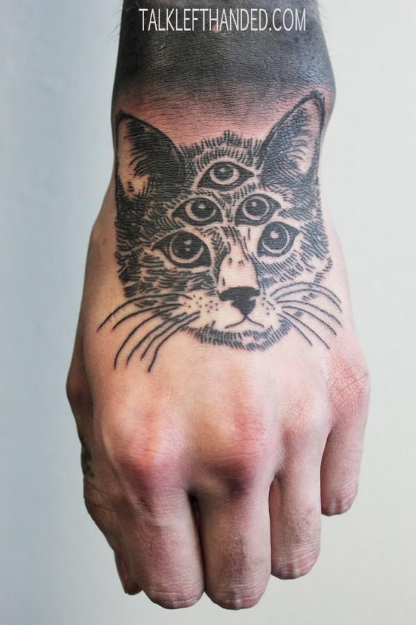 cat tattoo eye pyramid