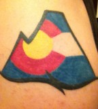 colorado mountain tattoo