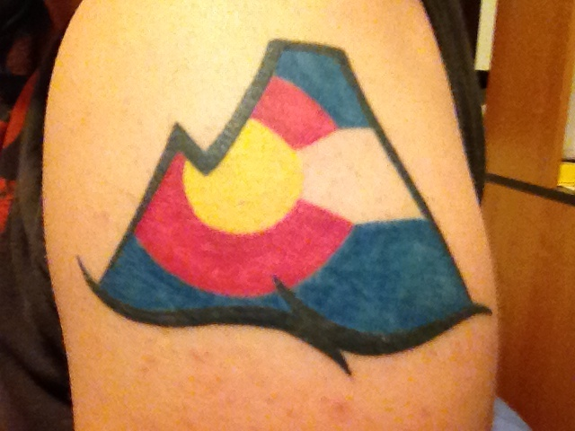 colorado mountain tattoo