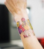colorful wrist tattoo children