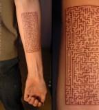 cool maze tattoo