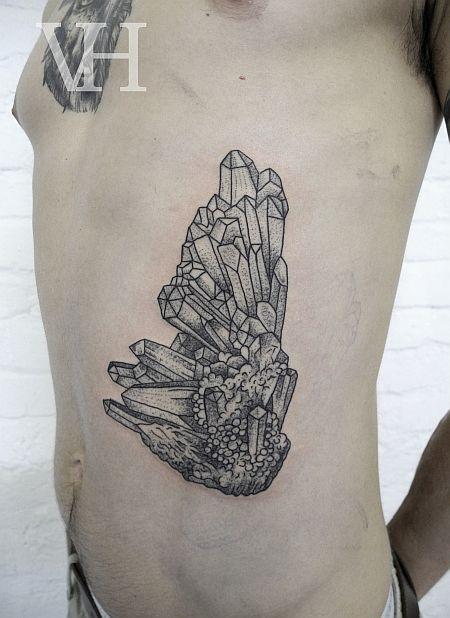 crystals tattoo by valentin hirsch