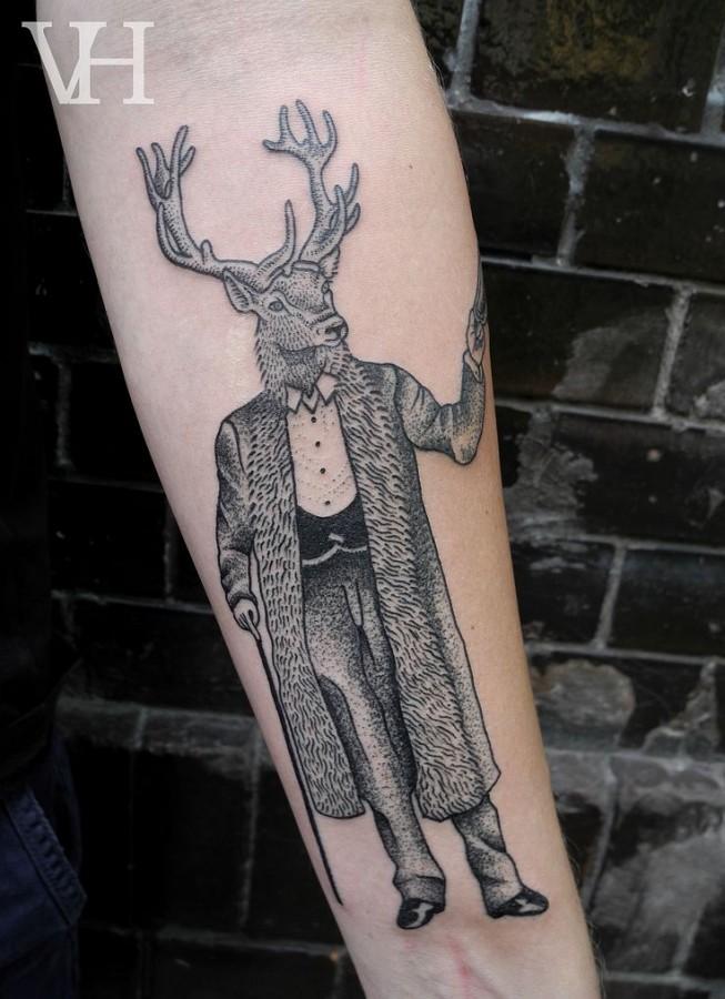 deerman tattoo by valentin hirsch