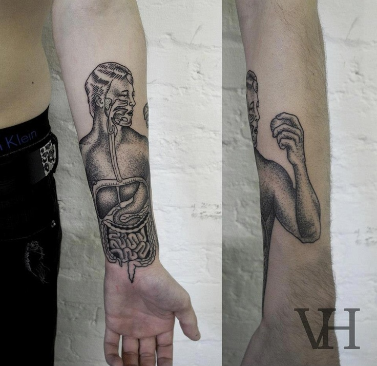 dygestion system tattoo by valentin hirsch