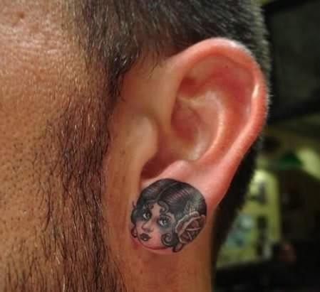 ear tattoo girl head