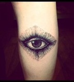 eye tattoo on shoulder by brucius