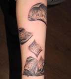 fairytale tattoo flying book pages