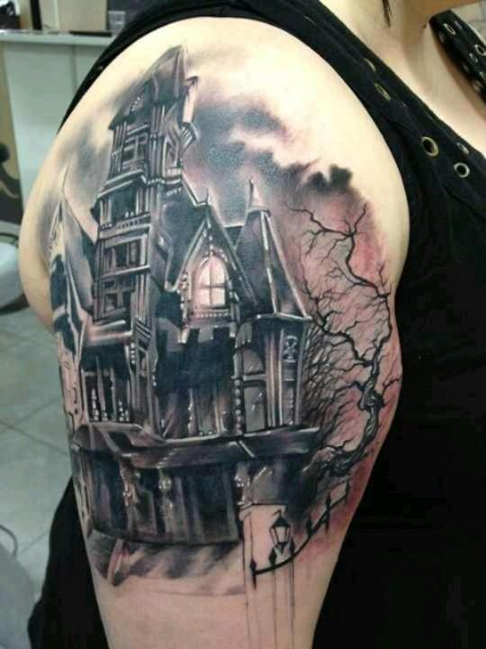 Fairytale Tattoo Haunted House Tattoomagz Tattoo